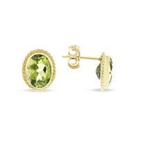 14k_yellow_gold_oval_peridot_twisted_bezel_post_earrings