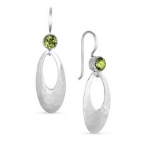 Sterling_Silver_&_Peridot_Hammered_Oval_Drop_Earrings_________
