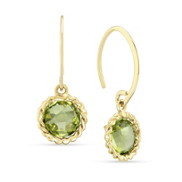 14K_Yellow_Gold_Round_Checkerboard_Peridot_Twisted_Bezel_Earrings