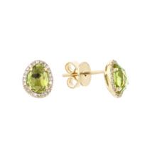 14k_yellow_gold_checkerboard_peridot_&_diamond_halo_freeform_post_earrings