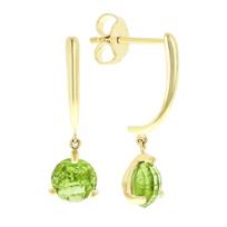 14k_yellow_gold_round_checkerboard_peridot_dangle_earrings