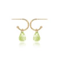 14k_yellow_gold_briolette_checkerboard_peridot_drop_hoop_earrings