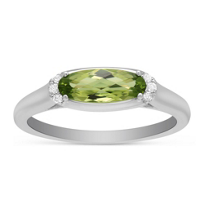 14K_White_Gold_Oval_Peridot_and_Round_Diamond_East_West_Ring