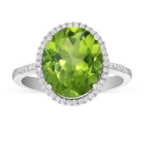 14K_White_Gold_Checkerboard_Peridot_and_Round_Diamond_Halo_Ring