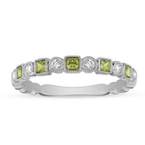 14K_White_Gold_Princess_Cut_Peridot_and_Diamond_Geometric_Ring