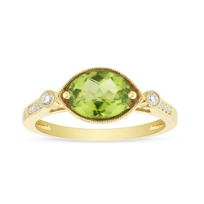 14K_Yellow_Gold_Oval_Peridot_and_Round_Diamond_Milgrain_East_West_Ring_