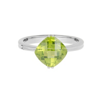14K_White_Gold_Checkerboard_Cushion_Peridot_Ring