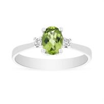 14k_white_gold_checkerboard_oval_peridot_&_diamond_3_stone_ring