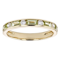 14k_yellow_gold_baguette_peridot_&_round_diamond_alternating_channel_set_ring