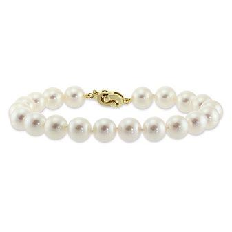 Tara Pearls 14K Yellow Gold 7x7.5mm Cultured Pearl Bracelet