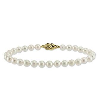 Tara Pearls 14K Yellow Gold 6.5x7mm White Cultured Pearl Bracelet