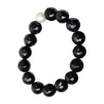 Vincent_Peach_Freshwater_Cultured_Pearl_&_Black_Bead_Stretch_Bracelet