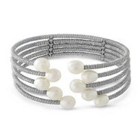 Freshwater_Cultured_Pearl_Five_Row_Cuff_Bracelet