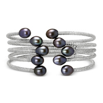 Black_Freshwater_Cultured_Pearl_Five_Row_Cuff_Bracelet