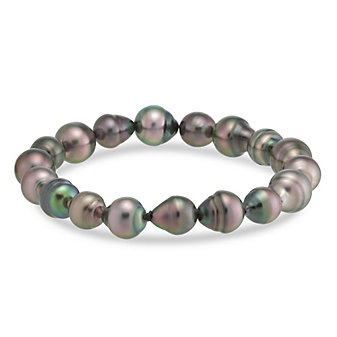 Tara Pearls Tahitian Cultured Pearl Stretch Bracelet
