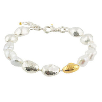 Gurhan Sterling Silver & Yellow Tone Freshwater Cultured Pearl Spell Hue Bracelet