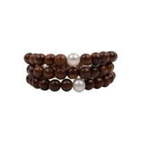 Vincent_Peach_Wooden_Bead_&_White_Freshwater_Cultured_Pearl_Wrap_Bracelet_