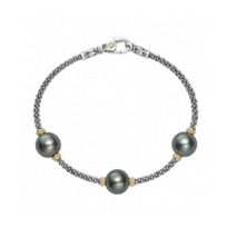 lagos_sterling_silver_&_18k_yellow_gold_black_freshwater_pearl_3_station_luna_bracelet