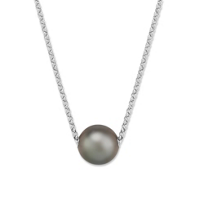Sterling_Silver_Tahitian_Cultured_Pearl_Necklace,_18""