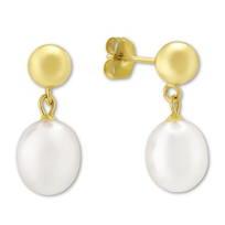 14K_Yellow_Gold_Cultured_Pearl_Earrings