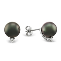18K_White_Gold_Tahitian_Cultured_Pearl_and_Diamond_Earrings