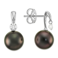 18K_Tahitian_Cultured_Pearl_and_Diamond_Earrings,_9x10mm