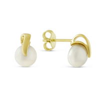14K_Yellow_Gold_Cultured_Pearl_Button_Earrings