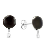 Sterling_Silver_Freshwater_Cultured_Pearl_&_White_Topaz_Earrings