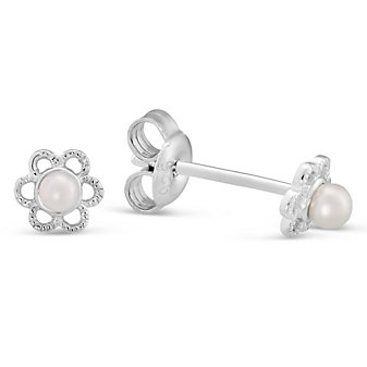 Sterling Silver Freshwater Cultured Pearl Children's Earrings