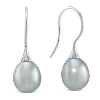 14K_White_Gold_Grey_Freshwater_Cultured_Pearl_Drop_Earrings