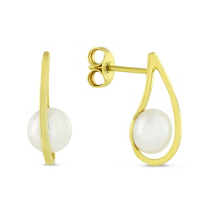 14K_Yellow_Gold_Cultured_Pearl_Drop_Earrings