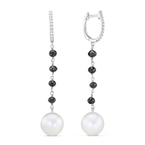 18K_White_Gold_Freshwater_Cultured_Pearl_and_Black_Diamond_Bead_Earrings