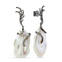 Tara_Pearls_14K_White_Gold_Baroque_White_Freshwater_Pearl_&_Brown_Diamond_Earrings