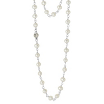 """Lagos_Sterling_Silver_Cultured_Pearl_Luna_36""""_Necklace_"""