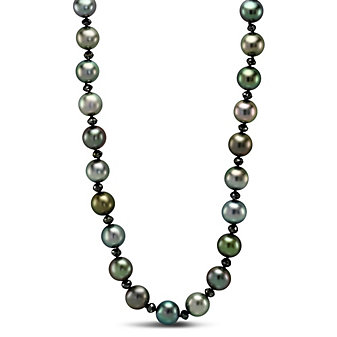 Tara Pearls 18K White Gold Tahitian Cultured Pearl and Black Diamond Necklace