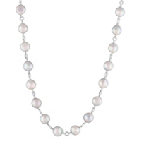 14K_White_Gold_Gray_Cultured_Pearl_Station_Necklace,_18""