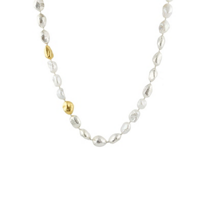 gurhan_yellow_tone_sterling_silver_white_freshwater_pearl_nugget_necklace,_18""