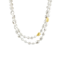 gurhan_yellow_tone_sterling_silver_white_pearl_nugget_necklace,_42""