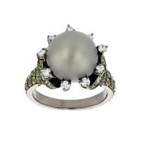 18k_white_gold_&_black_rhodium_black_tahitian_south_sea_cultured_pearl,_sapphire,_&_diamond_ring
