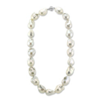 14K_White_Gold_White_Freshwater_Baroque_Cultured_Pearl_Strand,_18""