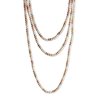 "Tara Pearls Endless Multi Color Pastel Freshwater Cultured Pearl Strand, 80"""