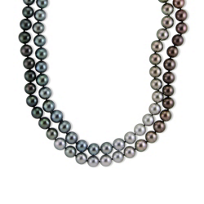 "18K_White_Gold_Tahitian_Cultured_Pearl_Strand,_39""____"