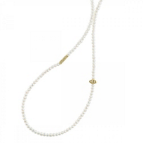 Lagos_18K_Yellow_Gold_Two-Station_White_Freshwater_Cultured_Pearl_Caviar_Icon_Necklace,_34""