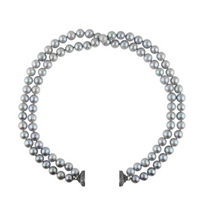 clara_williams_limited_edition_grey_dyed_freshwater_cultured_double_strand_pearl_necklace,_16.5""