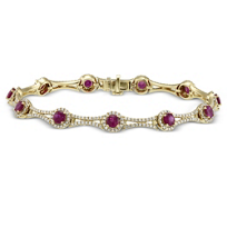 18K_Yellow_Gold_Ruby_and_Diamond_Bracelet