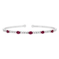 18k_white_gold_oval_ruby_&_diamond_bangle_bracelet