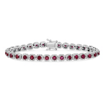 14K_White_Gold_Round_Ruby_and_Round_Diamond_Bracelet