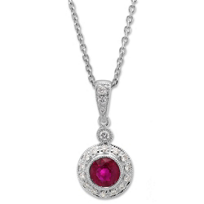 14K_White_Gold_Round_Ruby_and_Round_Diamond_Bezel_Set_Pendant