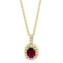 14K_Yellow_Gold_Oval_Ruby_and_Round_Diamond_Pendant