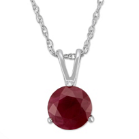 14K_White_Gold_Round_Ruby_Pendant,_6mm